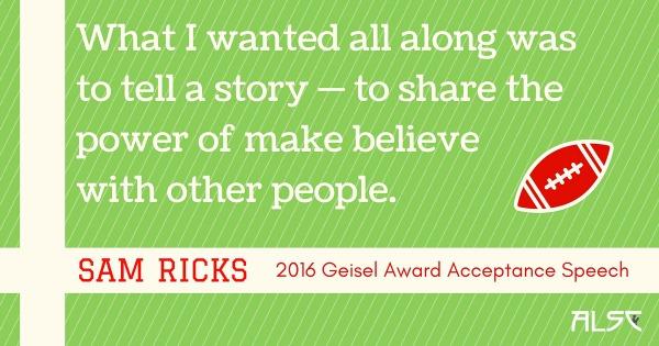 Download Sam Ricks 2016 Geisel Acceptance Speech