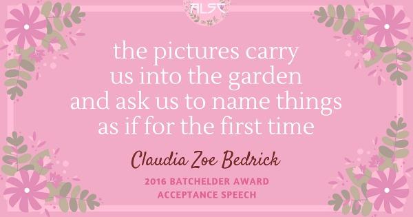 Download Claudia Zoe Bedrick's 2016 Batchelder Award Acceptance Speech