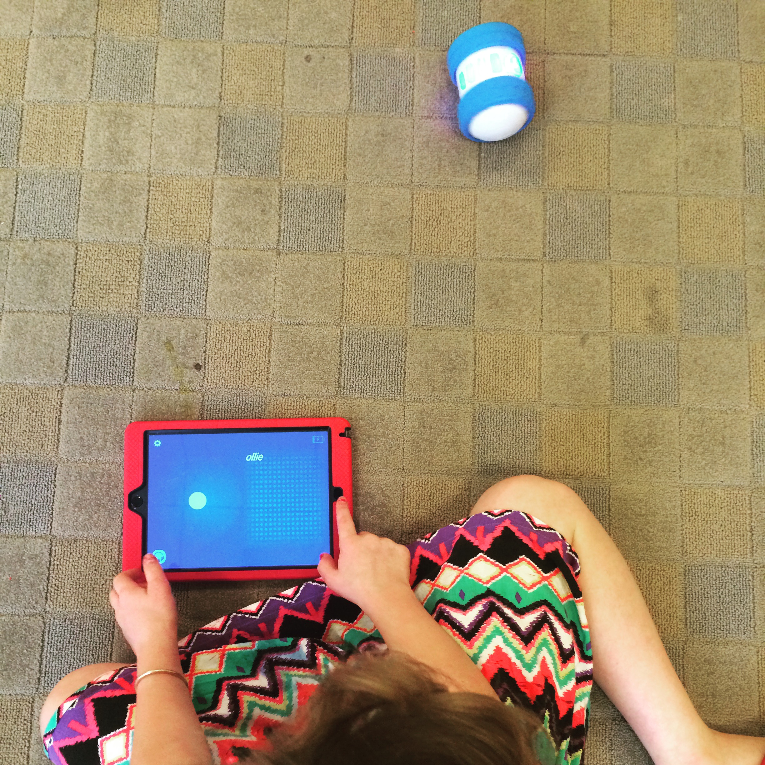 Syncing the Sphero Ollie to get it moving.