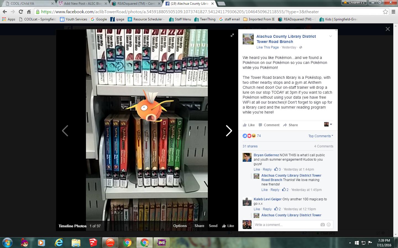 Aluchua County Library Facebook