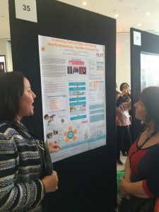 Aimee enthusiastically sharing ALSC's amazing Día work (photo credit: Marion Rocco)