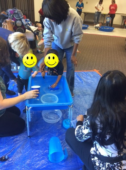 The always popular water table.