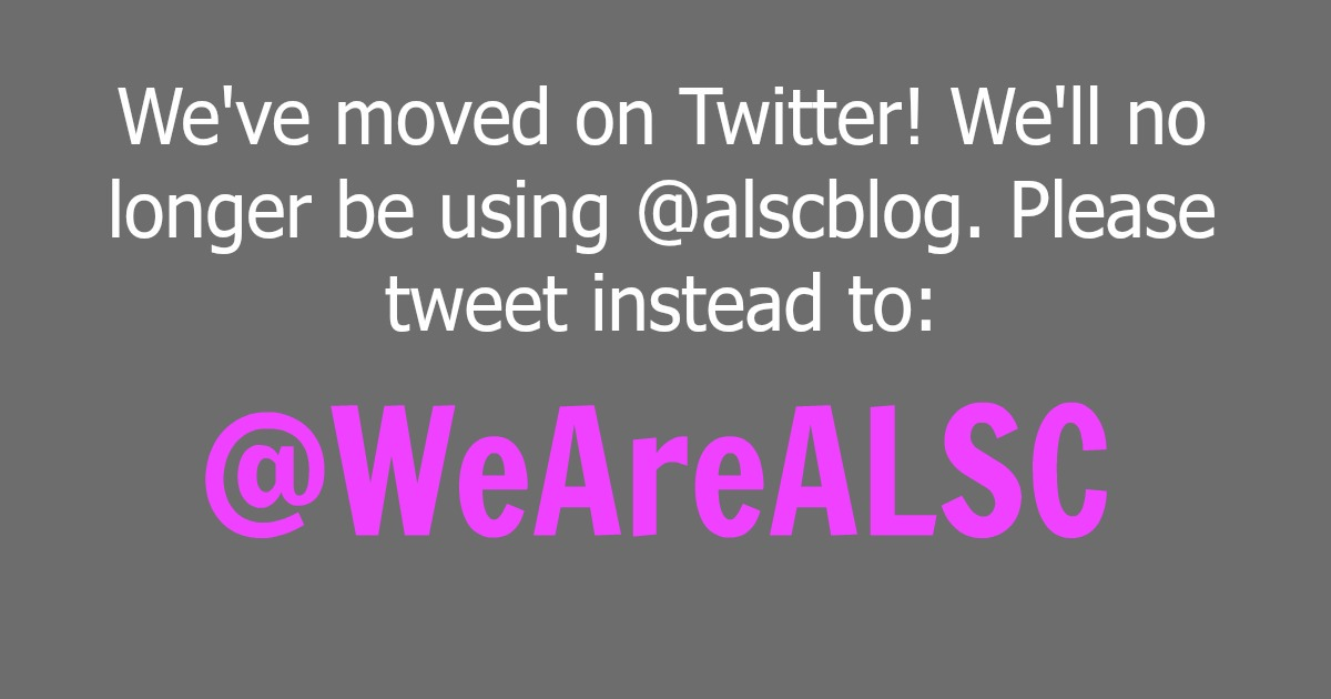 ALSC has a new Twitter username