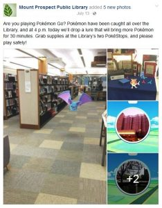 Mount Prospect Public Library Facebook Post