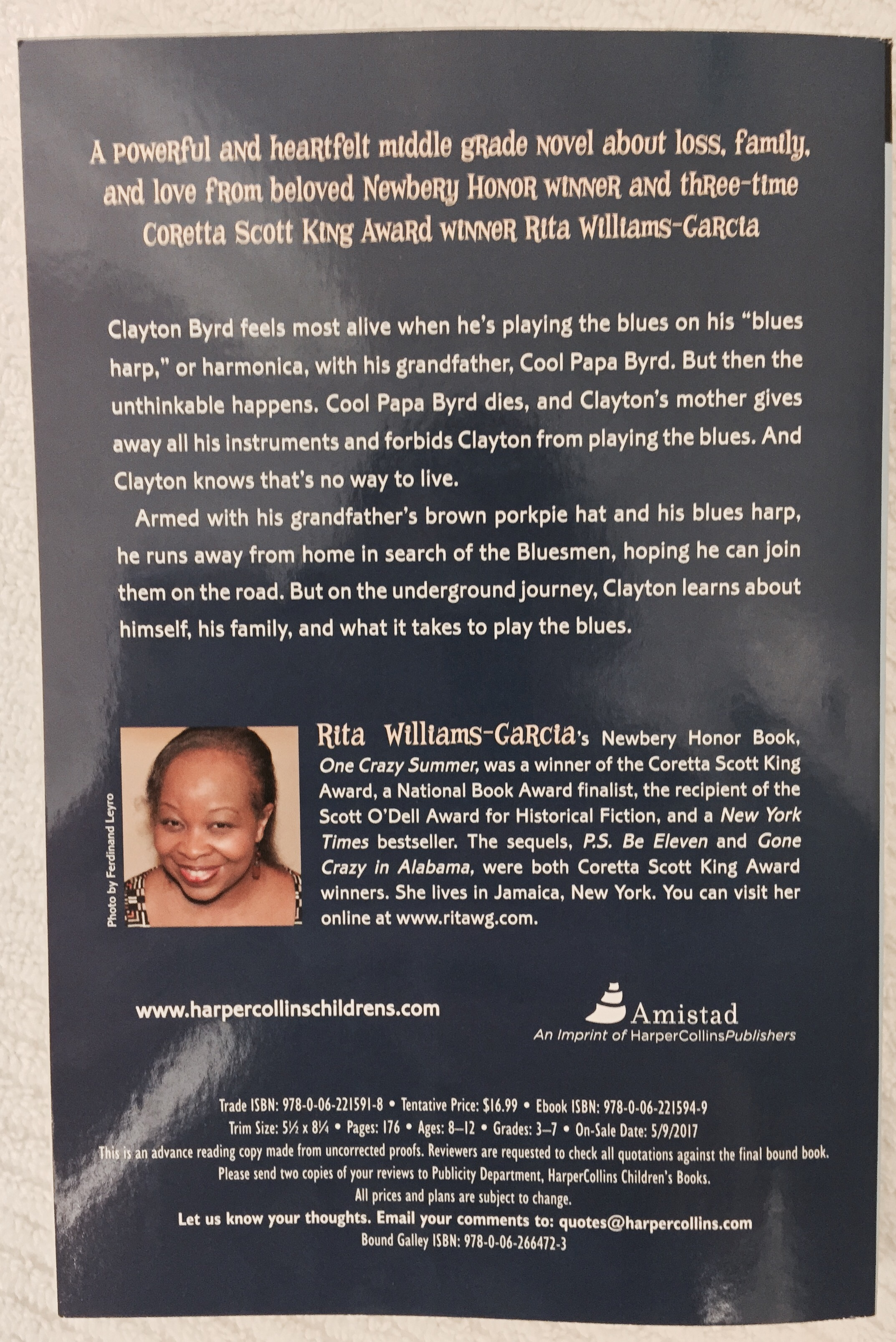 To Wet You Whistle, Check Out The Back Of Rita Williamsgarcia New Book: