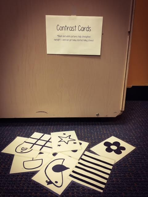 Photo of contrast cards