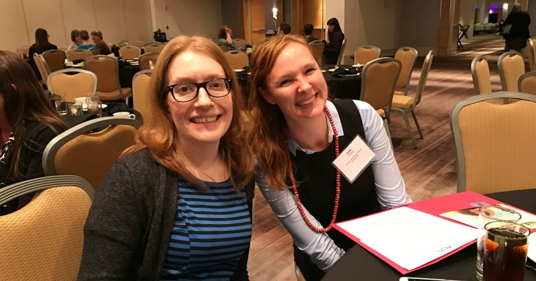 Congratulations to Keturah Cappadonia (left) and Julie Patterson, recipients of the Friends of ALSC Mini Institute Scholarship!