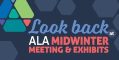 """Look back at"" superimposed on ALA Midwinter Meeting & Exhibits graphic"
