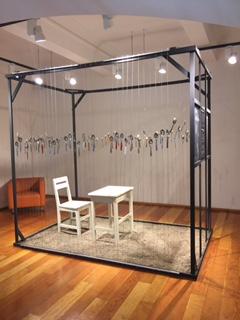Silverware art in exhibition at the Biblioteca Regional de Antofagasta