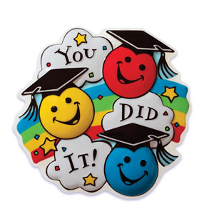 emoticons, graduation, rainbow, you did it, congrats