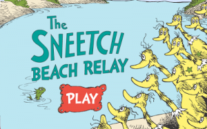 Screenshot of the The Sneetch Beach Relay game