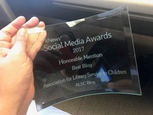PRNews 2017 Best Blog Honorable Mention