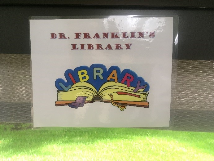 Sign saying Dr. Franklin's Library