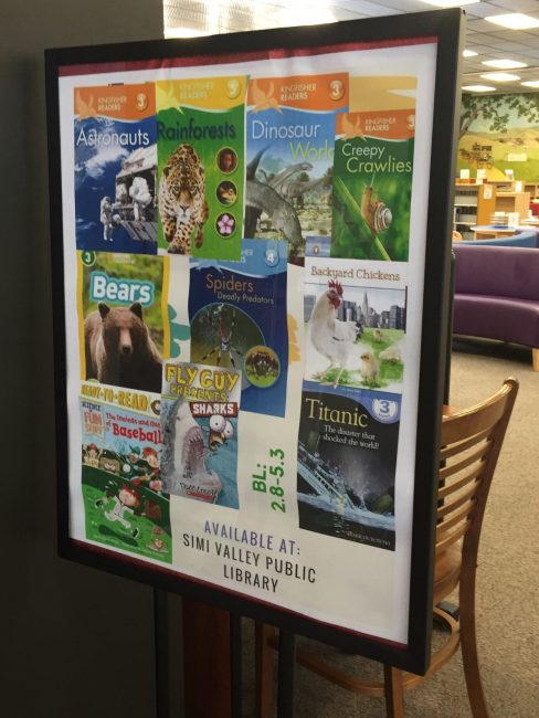 Poster designed to promote books