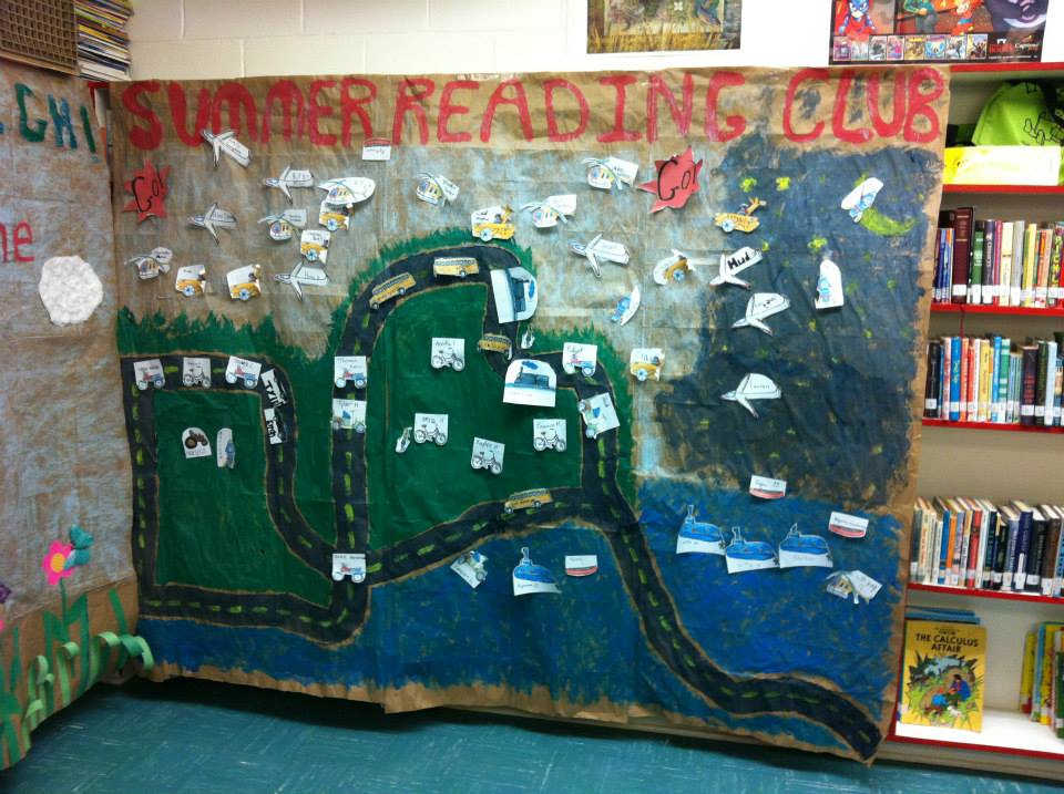 display wall for summer reading club