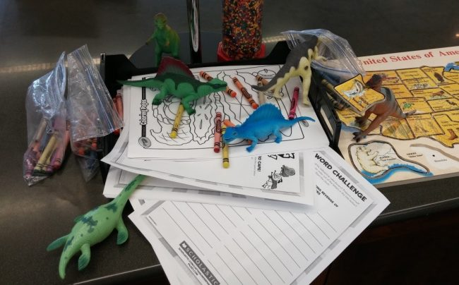 A sampling of some of the (plastic) dinosaur shenanigans during Dinovember