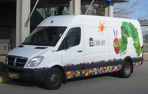 Book Mobile featuring Eric Carle art