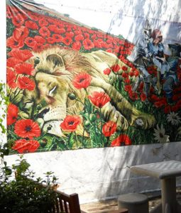 Mural of Poppies scene in The Wizard of Oz