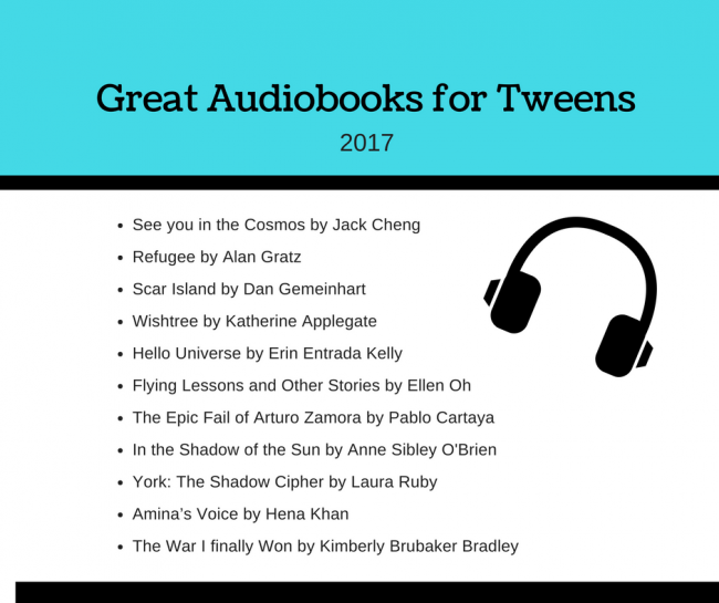 Great Audiobooks for Tweens