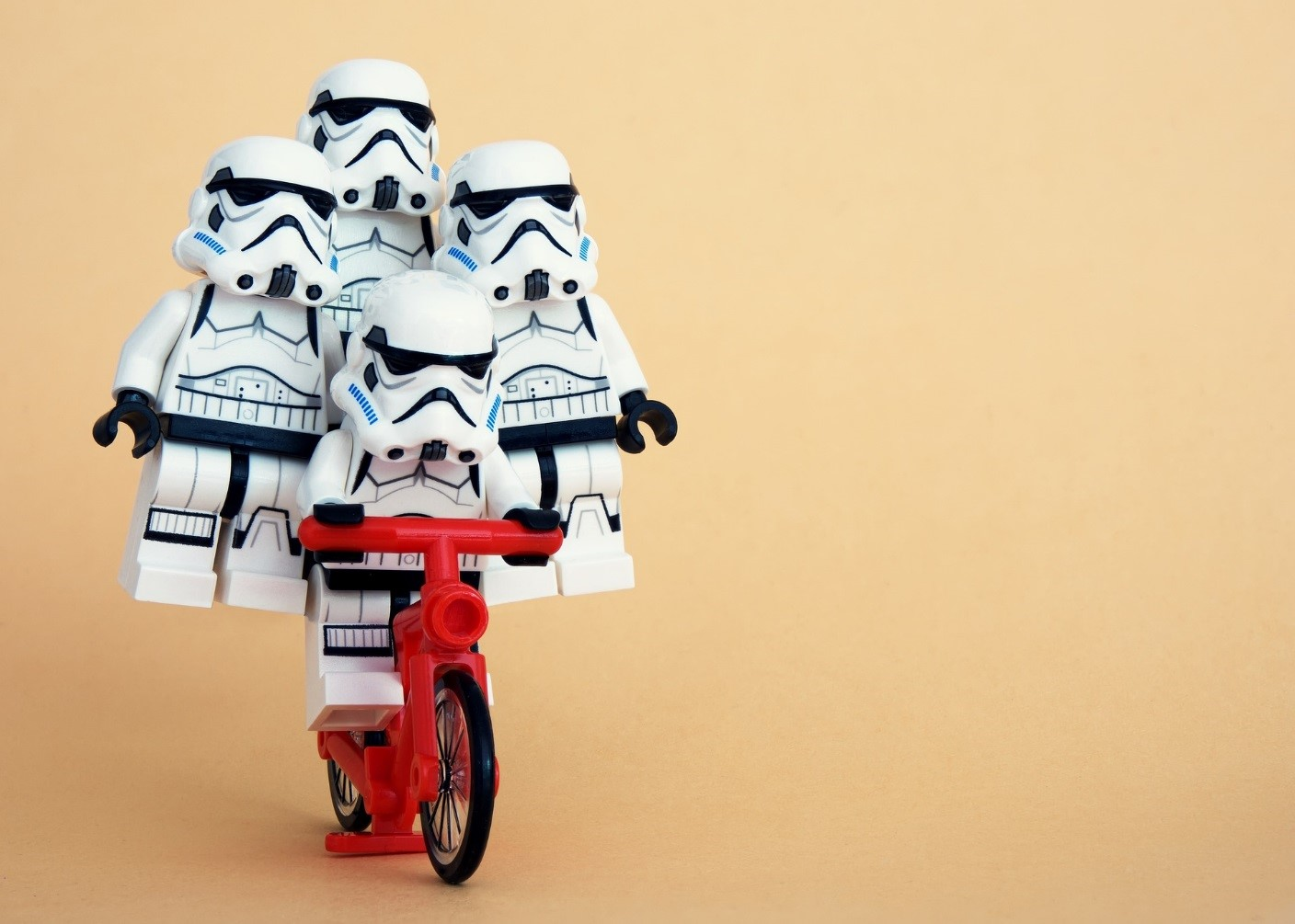 Star Wars Stormtroopers on a Bike
