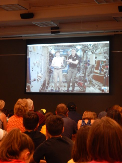 Kids speaking with astronauts in space via Skype