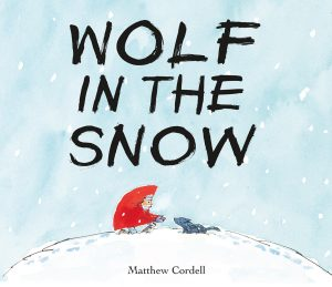 Cover image of Mock Caldecott winner, Wolf in the Snow