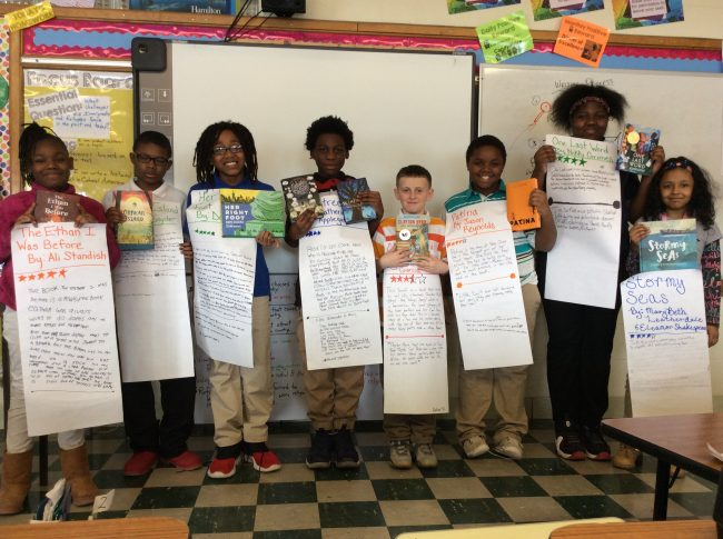 Reading Group at Imagine Clay School in Toledo, Ohio