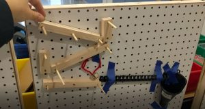 Example of ramps on peg board