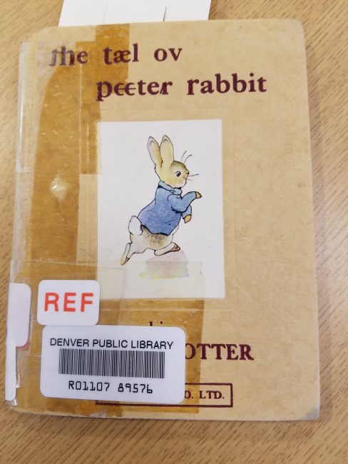 IPA edition of Peter Rabbit (cover)