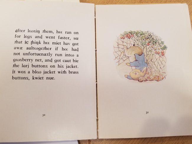 IPA edition of Peter Rabbit (inside)