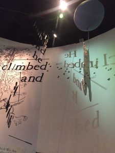 words on wall
