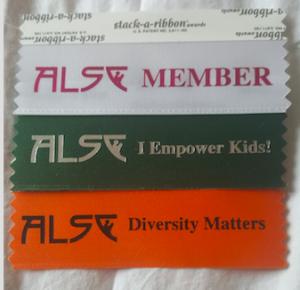 ALSC issued ribbons, ALSC member, ALSC I empower kids, ALSC Diversity Matters