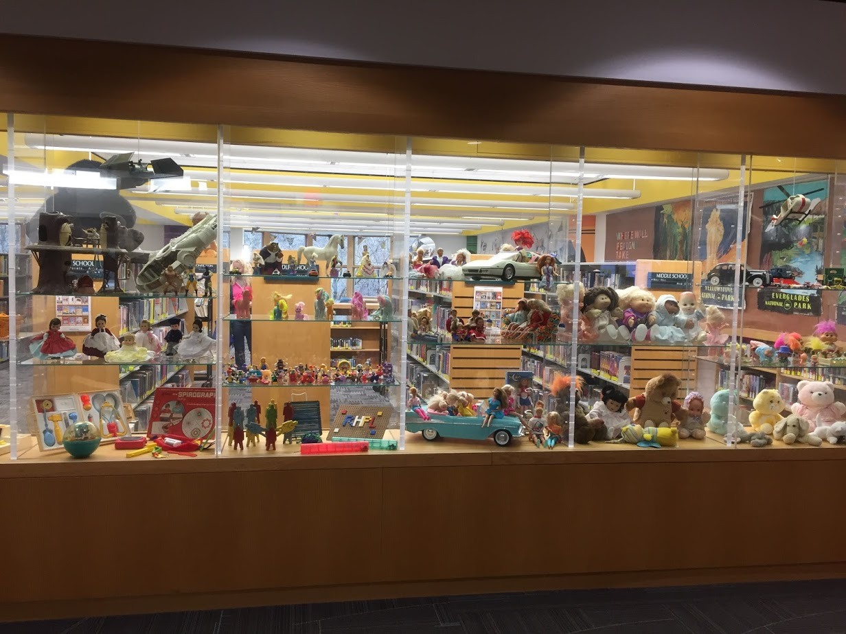 Display Case full of toys