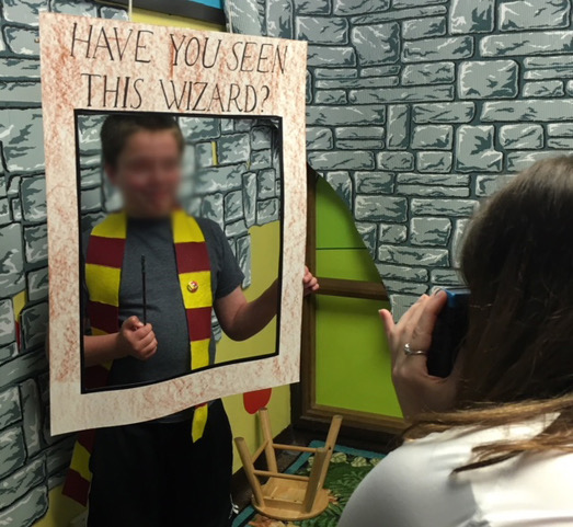 Sample Harry Potter photo booth