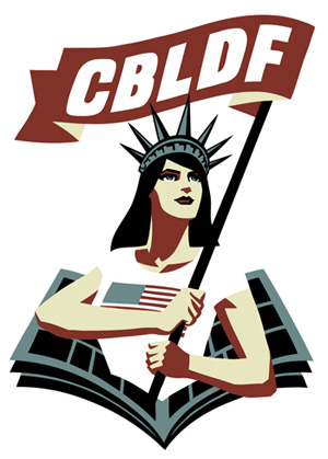 The logo for the CBLDF (Comic Book Legal Defense Fund)
