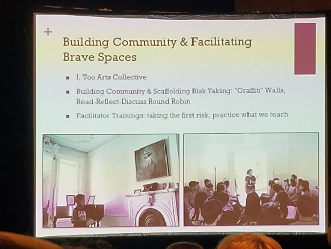 building community and facilitating brave spaces