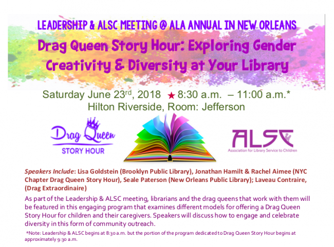 Leadership & ALSC: Drag Queen Story Hour