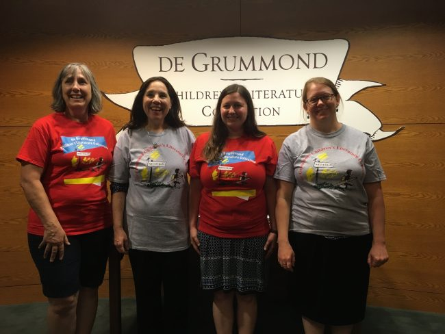 The members of the Bechtel Committee who visited the de Grummond Children's Literature Collection