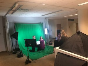 Green Screen time at the library makerspace