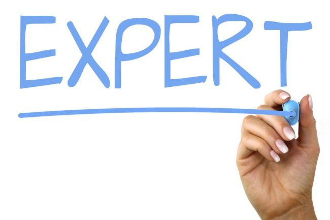 Experts - Writing the word EXPERT on a whiteboard