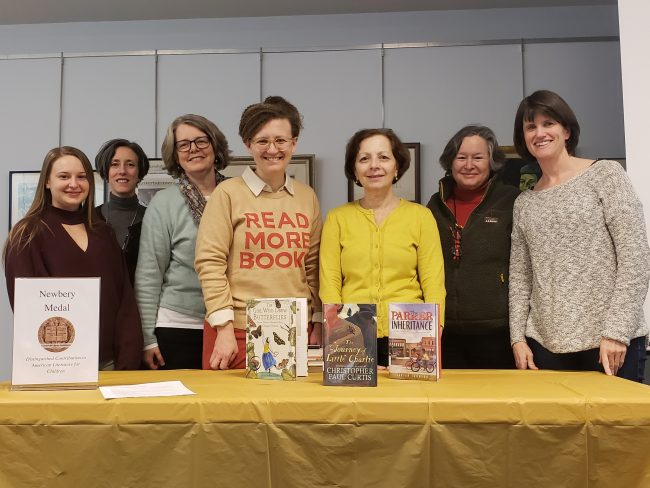 Mock Newbery discussion organized by YA Book Buzz book group