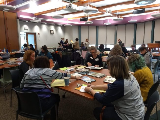 Mock Caldecott discussions at the Carmel Clay Public Library