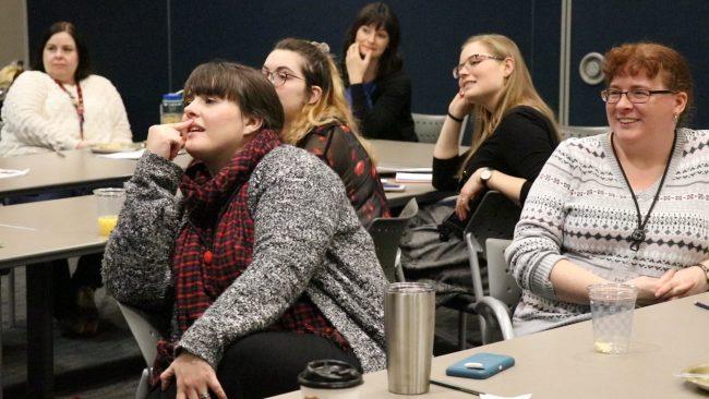 Participants in the Evansville Vanderburgh Public Library Mock Caldecott group