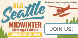 Web Badge for ALA Midwinter 2019. Join us in live blogging!