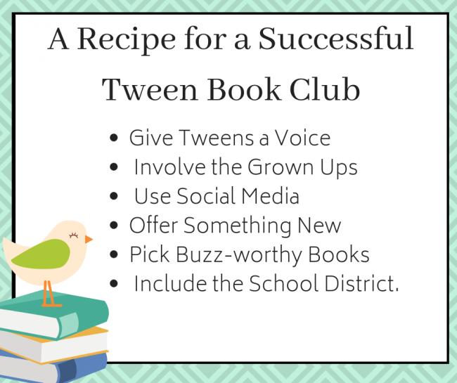 A Recipe for successful Tween Book Club