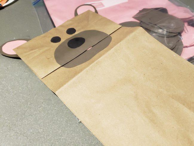 Bear Paper Bag Puppet for Reader's Theater Program