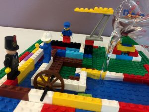 Lego example of building a pipeline that can hold water