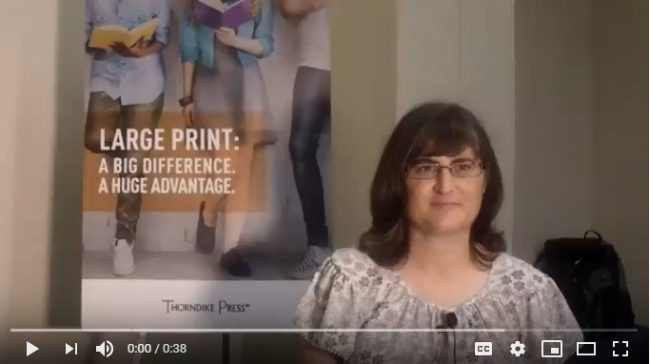 hear what students shared about large print
