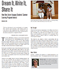 Dream It, Write It, Share It, article front page: Summer Reading and Learning