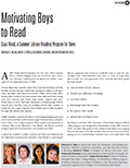 Motivating Boys to Read, article cover page